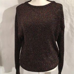 American Apparel Sweater SZ Lg metallic threads